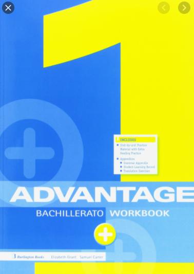 Advantage 1 Bachillerato WorkBook Solucionario