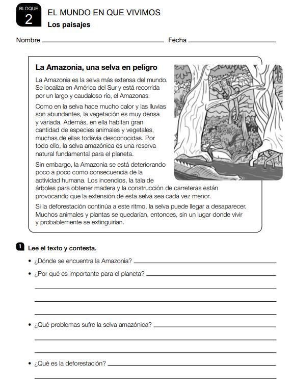 Ejercicios Ciencias Sociales 3 Primaria Santillana soluciones PDF