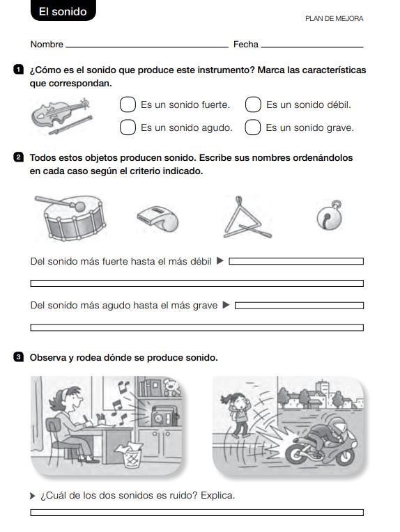 Ejercicios de Ciencias Naturales 2 Primaria Santillana PDF  soluciones