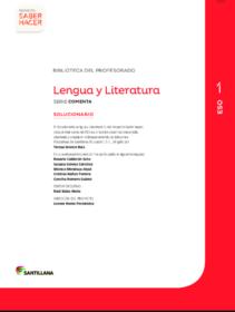 Ejercicios de Lengua 1 ESO con soluciones Santillana