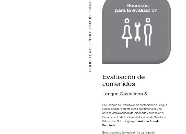 Evaluacion Lengua 5 Primaria Santillana PDF