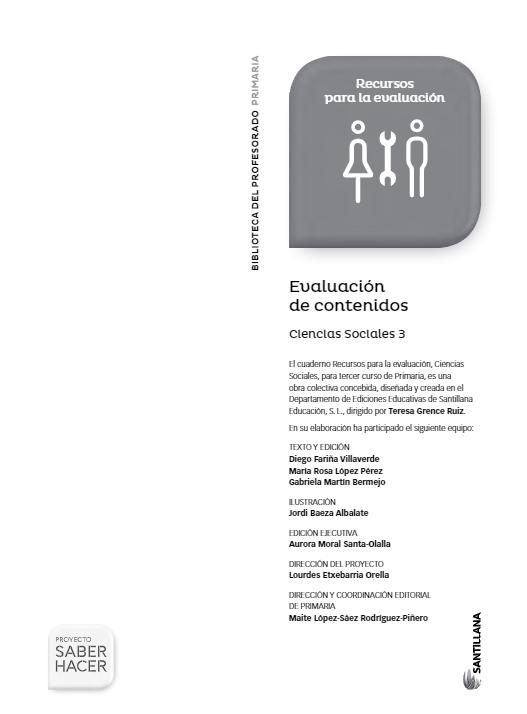 Evaluacion de Contenidos Saber Hacer Santillana 3 Primaria Ciencias Sociales