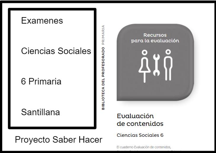 Examenes Ciencias Sociales 6 Primaria Santillana Saber Hacer PDF