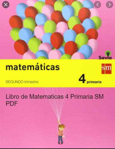 Solucionario Matematicas 4 Primaria SM SAVIA PDF