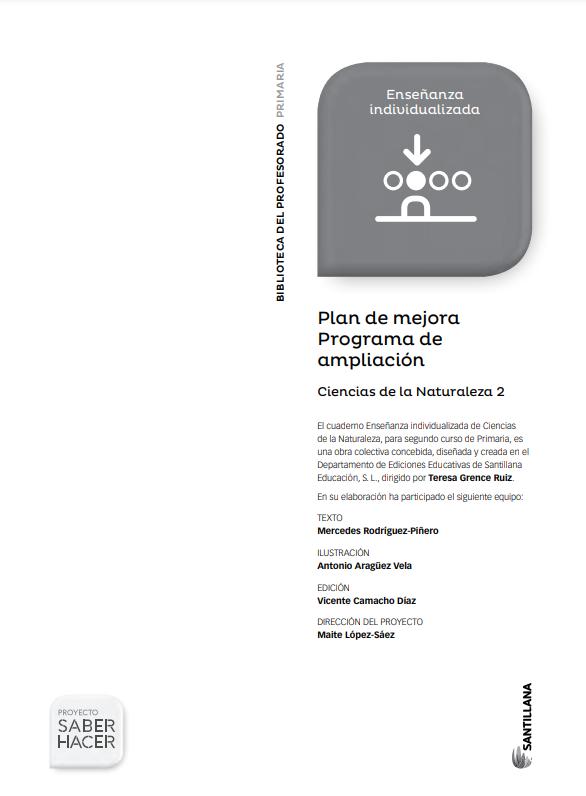 Plan de Mejora Programa de Ampliacion Ciencias Naturales 2 Primaria Santillana PDF