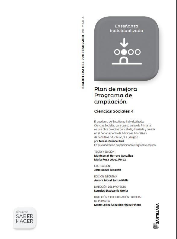 Plan de Mejora Programa de Ampliacion Ciencias Sociales 4 Primaria Santillana PDF