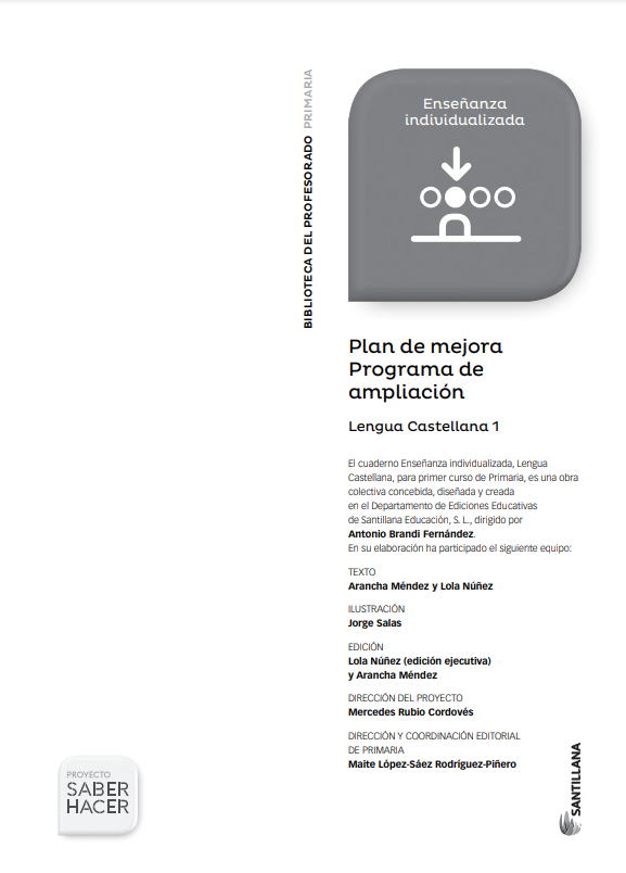 Plan de Mejora Programa de Ampliacion Lengua 1 Primaria Santillana PDF