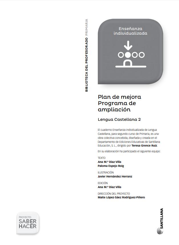 Plan de Mejora y Ampliacion Lengua 2 Primaria Santillana PDF