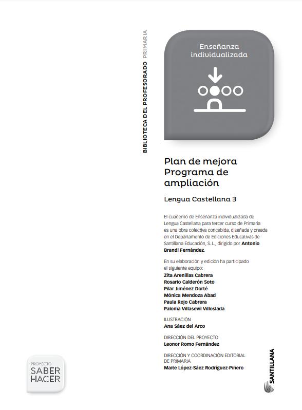 Plan de Mejora y Ampliacion Lengua 3 Primaria Santillana PDF