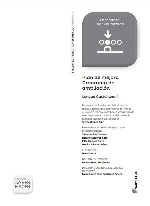 Plan de Mejora y Ampliacion Lengua 4 Primaria Santillana PDF