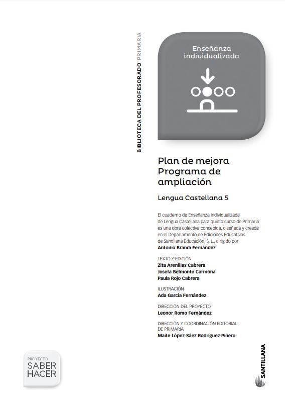 Plan de Mejora y Ampliacion Lengua 5 Primaria Santillana PDF