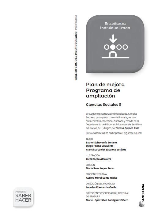 Plan de Mejora y Programa de Ampliacion Ciencias Sociales 5 Primaria Santillana en PDF
