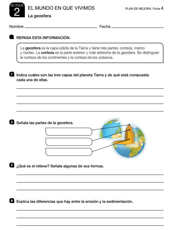 Refuerzo y Ampliacion Ciencias Sociales 4 Primaria Santillana en PDF