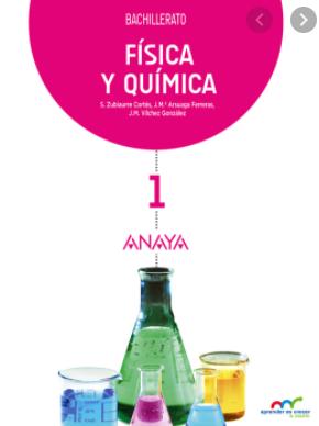 Solucionario Fisica y Quimica 1 Bachillerato Anaya