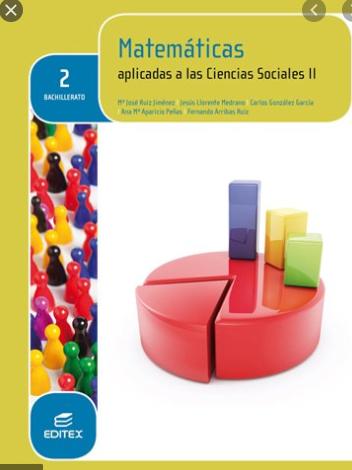 Solucionario Matematicas Aplicada a las Ciencias Sociales 2 Bachillerato Editex