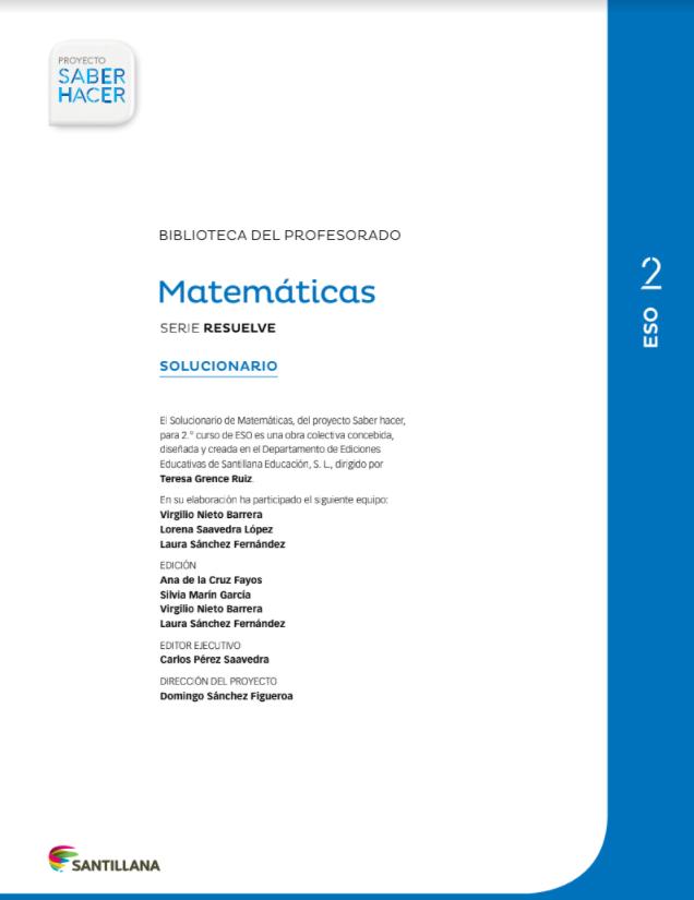 Solucionario Matematicas 2 ESO Santillana