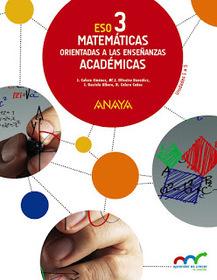 Solucionario Matematicas Academicas 3 ESO Anaya
