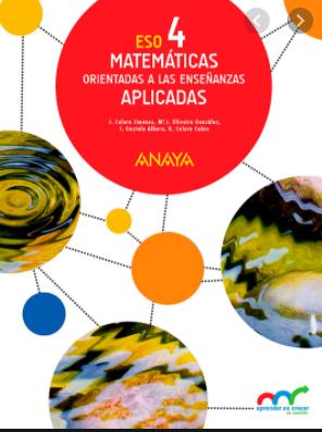 Solucionario Matematicas 4 ESO Anaya Aplicadas