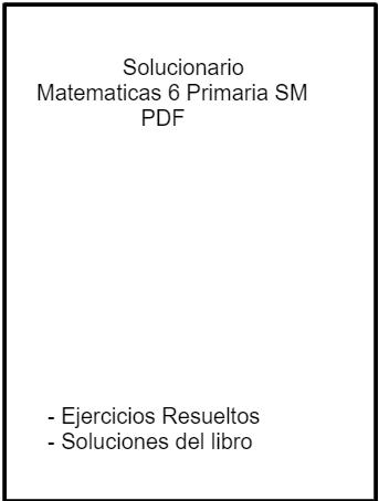 Ejercicios Resueltos Matematicas 6 Primaria SM